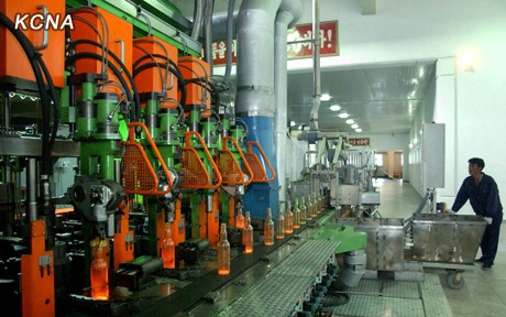 Glass Bottle Production Process Goes Operational in DPRK