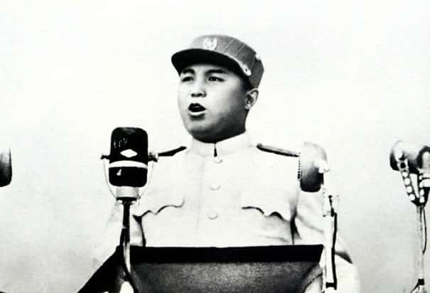 Kim Il Sung Speaks at Mass Rally