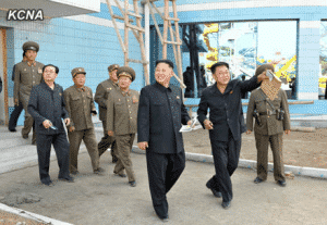 Kim Jong Un Inspects Construction Site of Munsu Swimming Complex