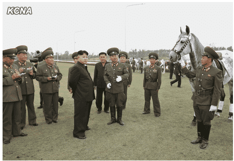 Kim Jong Un Visits Mirim Riding Club