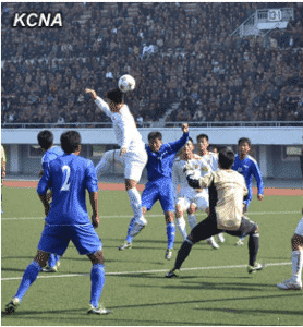 Premier Soccer Matches Under Way in DPRK