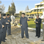 Kim Jong Un Looks round Construction Site of Children's Hospital Near Completion