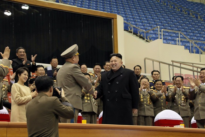Kim Jong Un Watches Sports Matches of Service Personnel of KPA