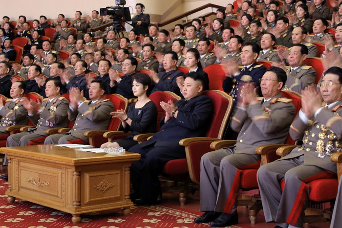 Kim Jong Un Watches Performance Given by State Merited Chorus