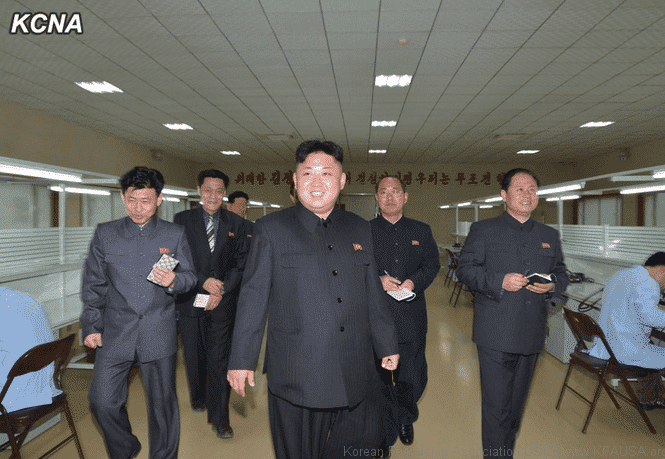 Kim Jong Un Provides Field Guidance to Machine Plant