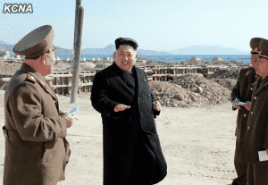 Kim Jong Un Gives Field Guidance to Construction Site of May 27 Fishery Station