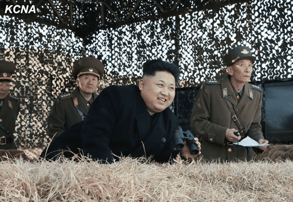 Kim Jong Un Watches Drill of KPA Air and Anti-Air Force
