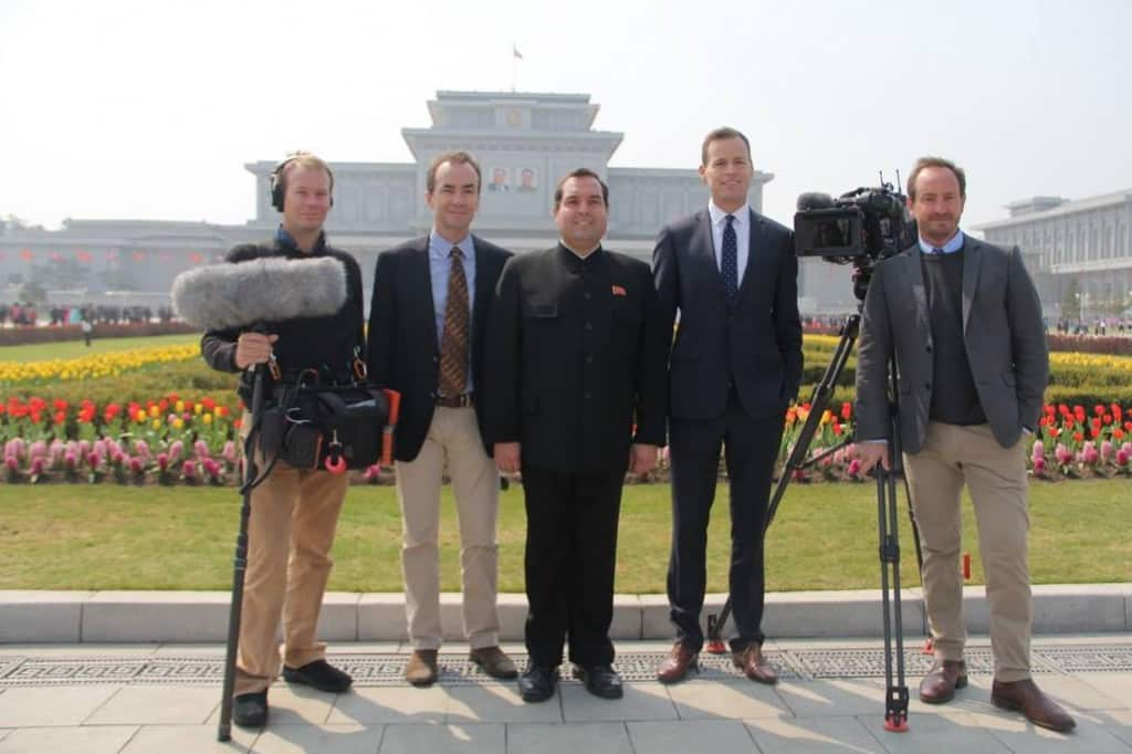 Returning from Korea with the team of '60 Minutes' from Channel 9 Australia.