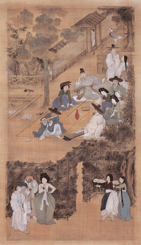 Korean people in a painting from the 18th century