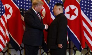 Moment Chairman Kim Jong Un Met With President Donald Trump