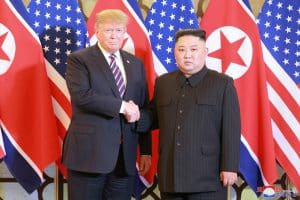 Supreme Leader Kim Jong Un Has Chat and Dinner with President Donald J. Trump
