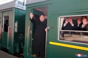 Leader Kim Jong Un Leaves Pyongyang for Second DPRK-U.S. Summit Meeting and Talks
