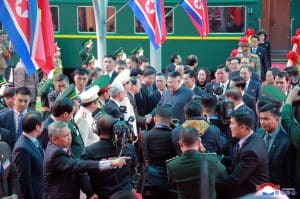Supreme Leader Kim Jong Un Arrives in Hanoi