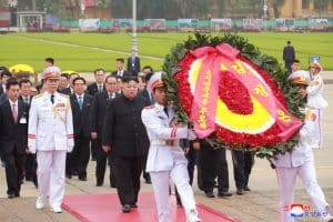 Wreath Laid at Mausoleum of Ho Chi Minh