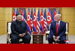 Supreme Leader Kim Jong Un Has Historic Meeting with U.S. President Donald Trump at Panmunjom