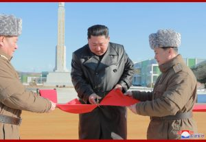 Jungphyong Vegetable Greenhouse Farm and Tree Nursery Completion Ceremony Held in Presence of Supreme Leader Kim Jong Un
