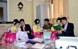 Women Triplets in Samjiyon City Are Happily Married