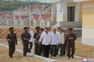 Rebuilt Rural Village  in North Hwanghae Province Inspected