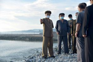 Kim Tok Hun Inspects Reconstruction Sites in Eastern Part of Country